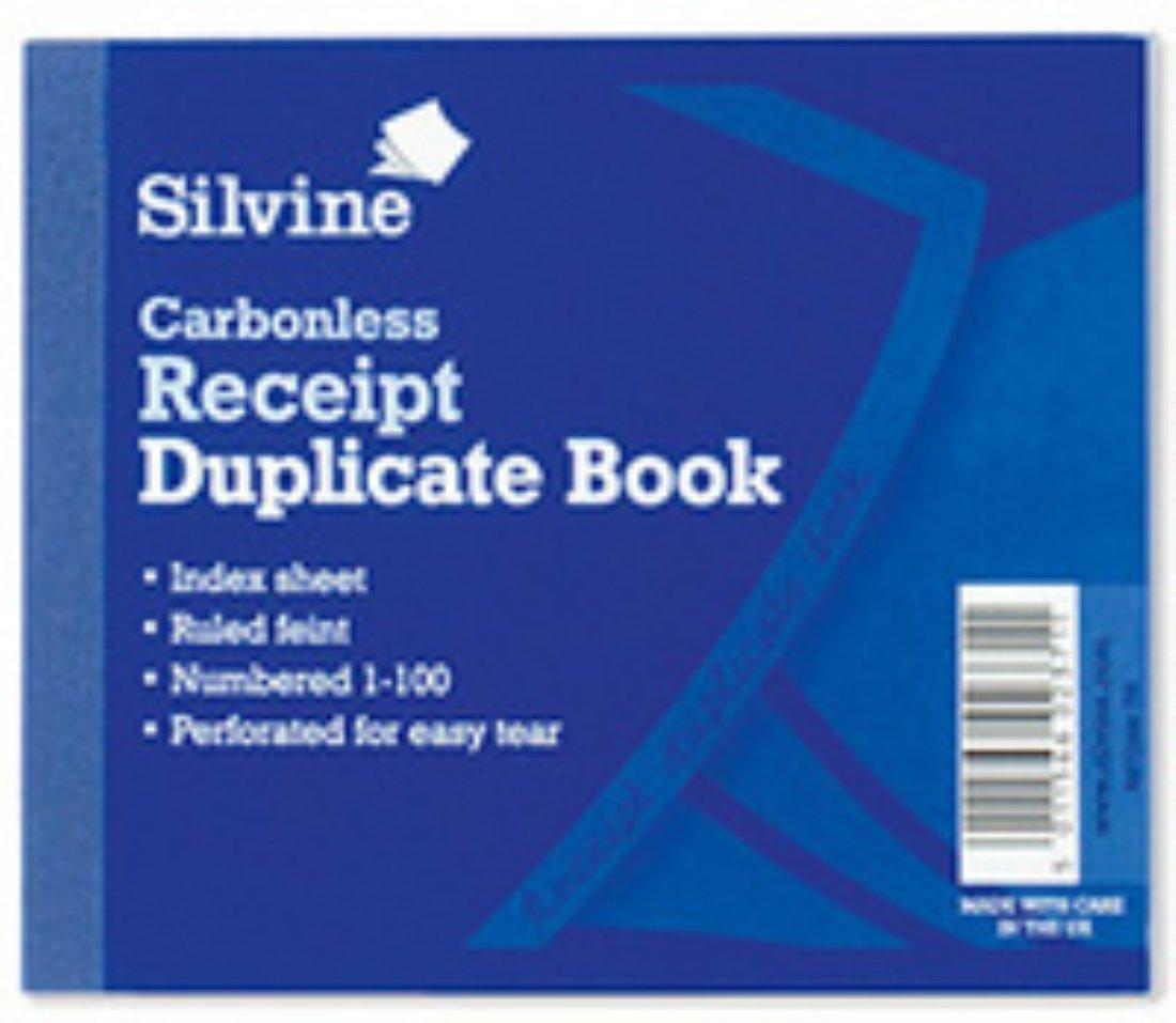 Silvine Duplicate Book Carbonless Receipt 1-100 106.5x125.5mm Ref 720-P Pack of 5
