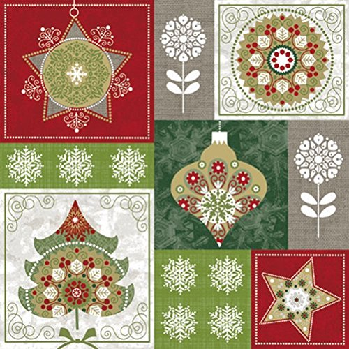 Christmas 33x33 cm 3ply TREES /& BAUBLES Pack of 20 Paper Lunch Napkins