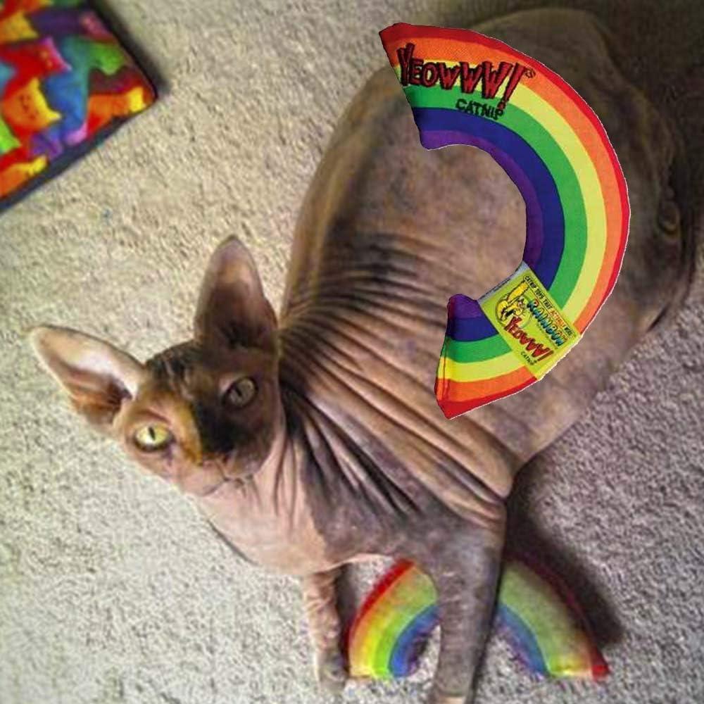 Yeowww! Catnip Toy, Rainbow : Cat Toys : Pet Supplies