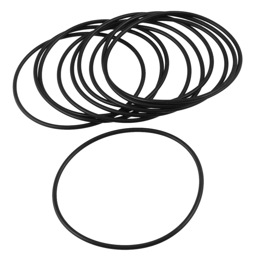 uxcell 2.5x75mm Black Nitrile Rubber Sealing O Ring Seal Grommets 10 Pcs