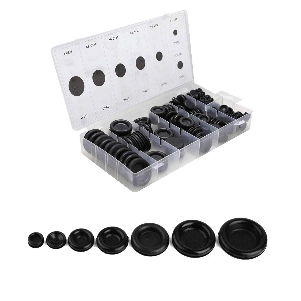 170 PCS Rubber Grommet Firewall Hole Plug Set Electrical Wire Gasket KitRubber Gasket Kit by 170 PCS