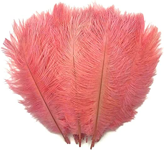 Wired Narrow Feather Craft Feathers x 6 White