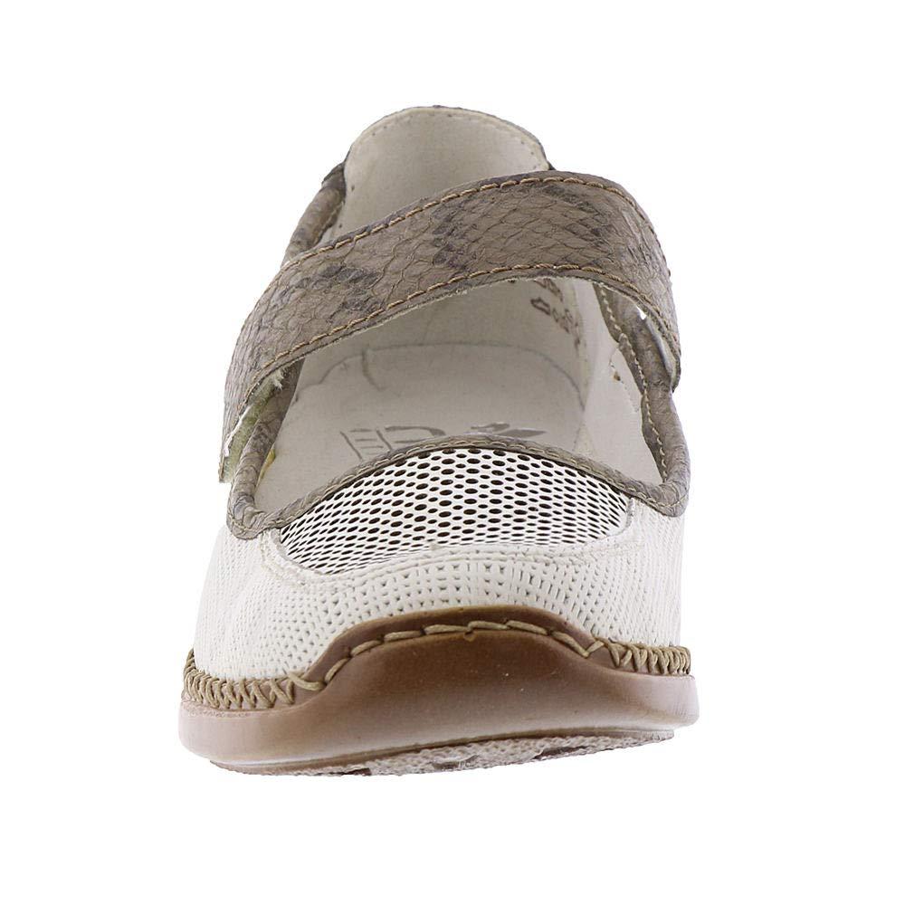 Rieker Damenschuhe Schuhe 41306-80 41306-80 Schuhe Weiß Weiss/Leinen 8697da