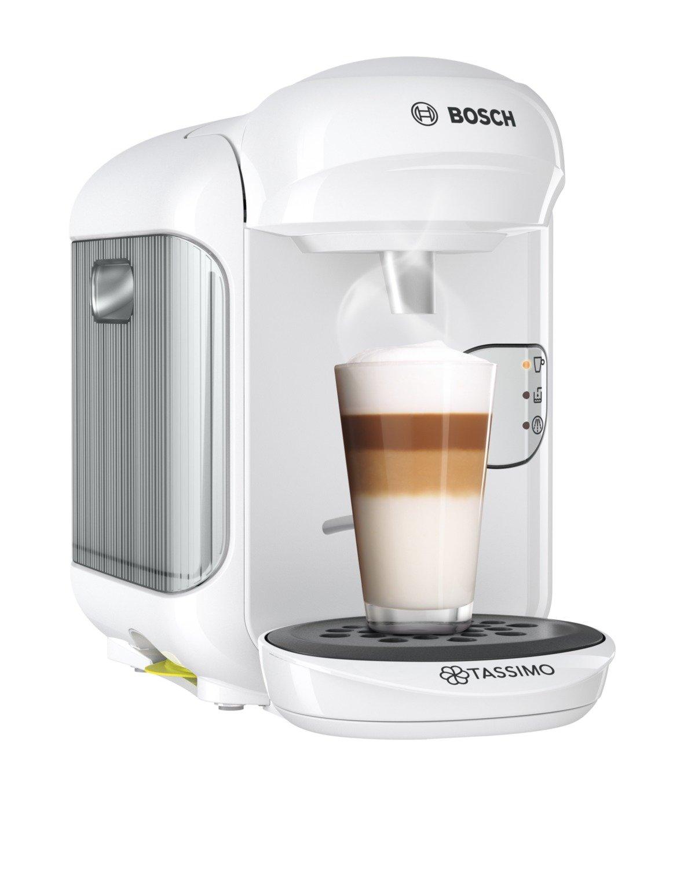 Bosch TAS1404 Tassimo Vivy 2, Cafetera automática de cápsulas, diseño compacto, 1300 W, color blanco