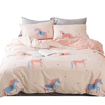 ORoa Soft Cute Cartoon Animal Bedding Duvet Cover Queen Full Size Set For  Kids Boys Girls