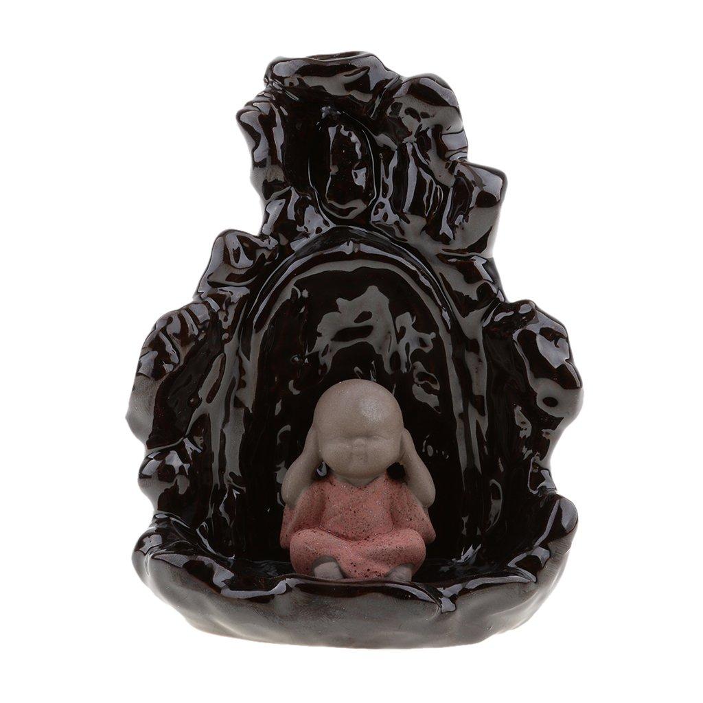 Jili Online Thai Little Monk Statue Decorative Ornament Cones Incense Holder Burners