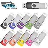 10 stück Einklappbarer 4GB USB 2.0 Transmemory Memory Stick, 10 Farbe