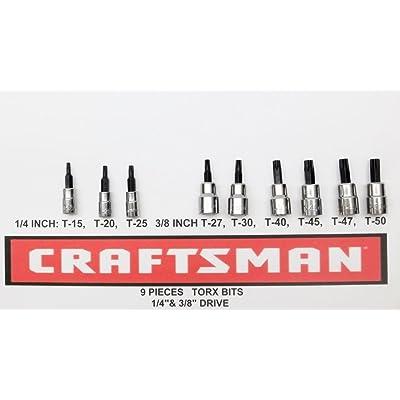 "Craftsman 9 pc 1/4"" & 3/8"" Torx Bit Socket Set: Home Improvement"