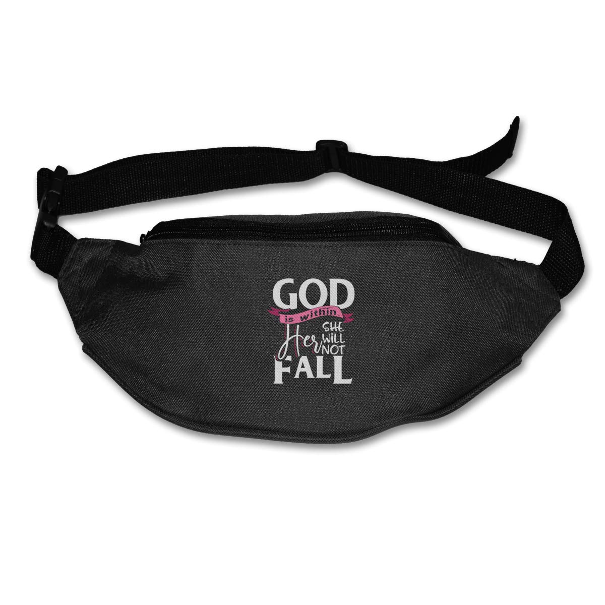 God Is Within Her She Will Not Fall Sport Waist Bag Fanny Pack Adjustable