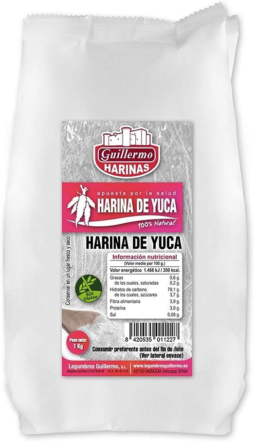 Guillermo Harina de Yuca 100% Natural 1Kg: Amazon.es ...