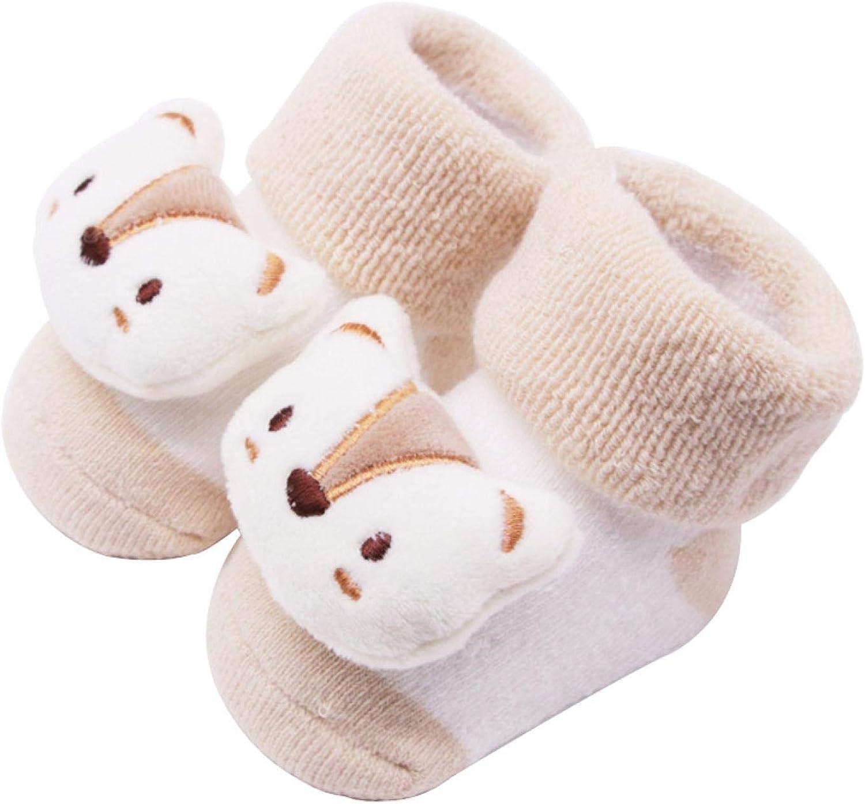 Cy/_ NewBorn Baby Boy Girl Cartoon Cotton Socks Infant Toddler Anti-Slip Socks Ey