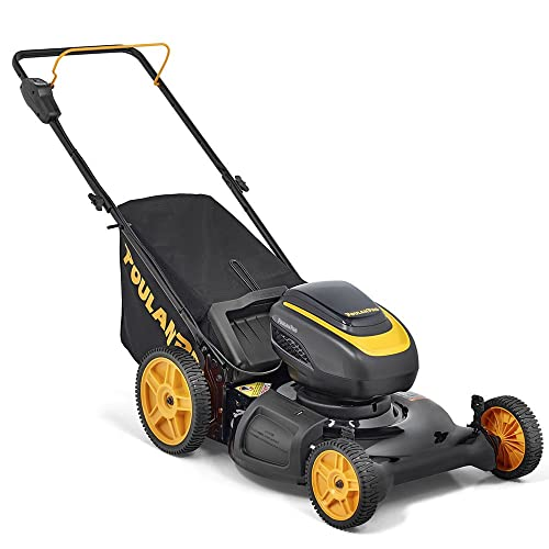 Poulan Pro PRLM21i, 58-Volt Cordless 21 in. 3-in-1 Push Lawn Mower Battery Included