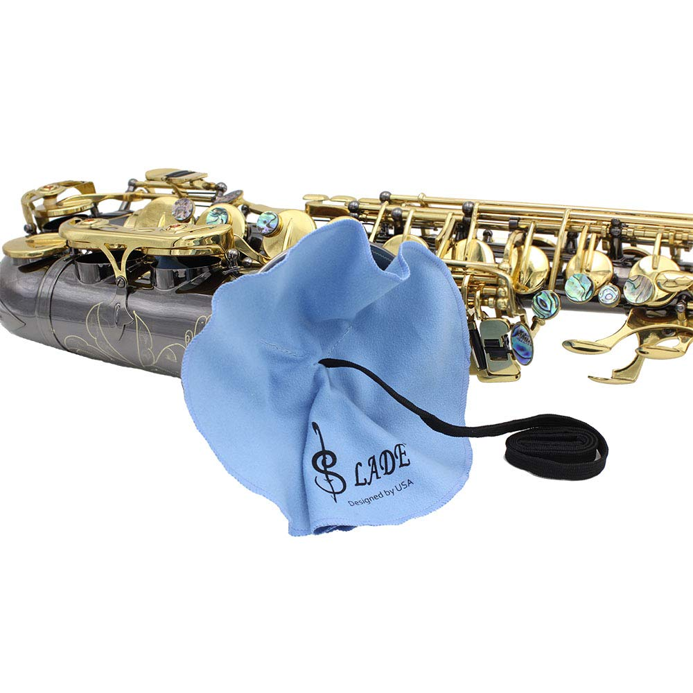 Mowind Saxophone Sax Cleaning Tool Neck Strap Mouthpiece Brush Cleaning Cloth Gloves Cleaning Kit 6-in-1