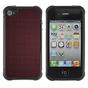 Pulsar Defender Series Tpu silicona Carcasa Funda Case para Apple iPhone 4 / iPhone 4S , Texture Red