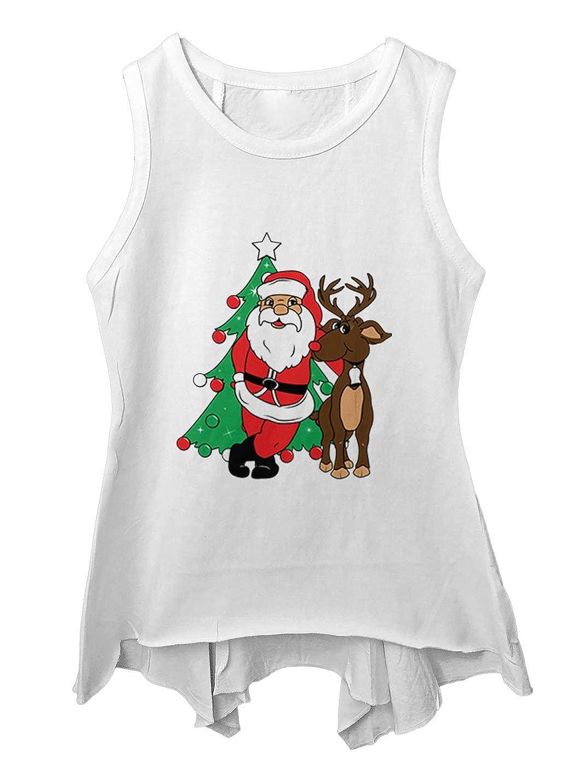 Tcombo Santa /& Reindeer Elf Christmas Santa Toddler//Youth Sleeveless Backswing