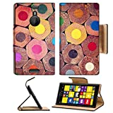 Nokia Lumia 1520 Flip Case Colorful pencils close up abstract background IMAGE 21643484 by MSD Customized Premium Deluxe Pu Leather generation Accessories HD Wifi Luxury Protector