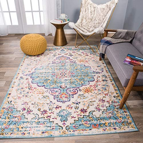 Rugshop Vintage Traditional Bohemian Area Rug 9' x 12' Blue