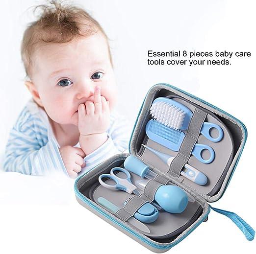 CSFM-Baby 8 Unids/Set Kit Cuidado Diario para el Aseo del bebé Kit de Cuidado Completo para Cualquier niño, recién Nacido, bebé o niño pequeño (Azul): Amazon.es: Hogar