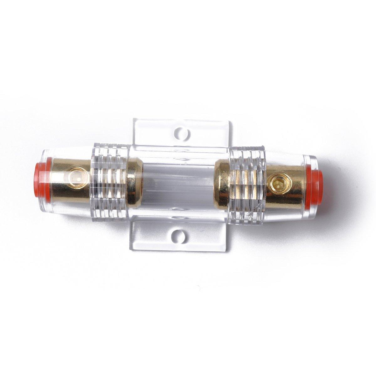 WINOMO 4//8 AWG Inline AGU Sicherungshalter Sicherungsblock Sicherungskasten mit 100 Amp Sicherung
