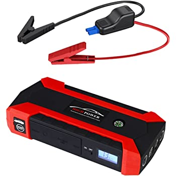 Amazon.com: Battery Jumper Charger Pack with Cables: Jump