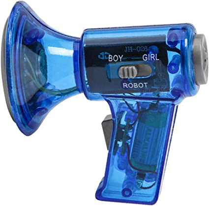 Voice Changer Robot Megaphone Amplifier 10 Sound Effects LED Loud Kids Toy Gifts