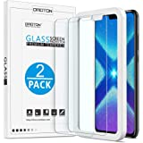 OMOTON [2 Pack Compatible for Huawei Honor 8X Screen Protector with [Easy Install Tool] [9H Hardness][Anti-Scratching][Anti-Oil][Anti-Bubbles][2.5D Round Edge]