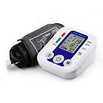 XIAOXINYUAN Monitor De Pulso De Presión Arterial Del Brazo De Monitores De Cuidados De Salud Digital Portátil Superior Tensiómetro Esfigmomanómetro Metros: ...