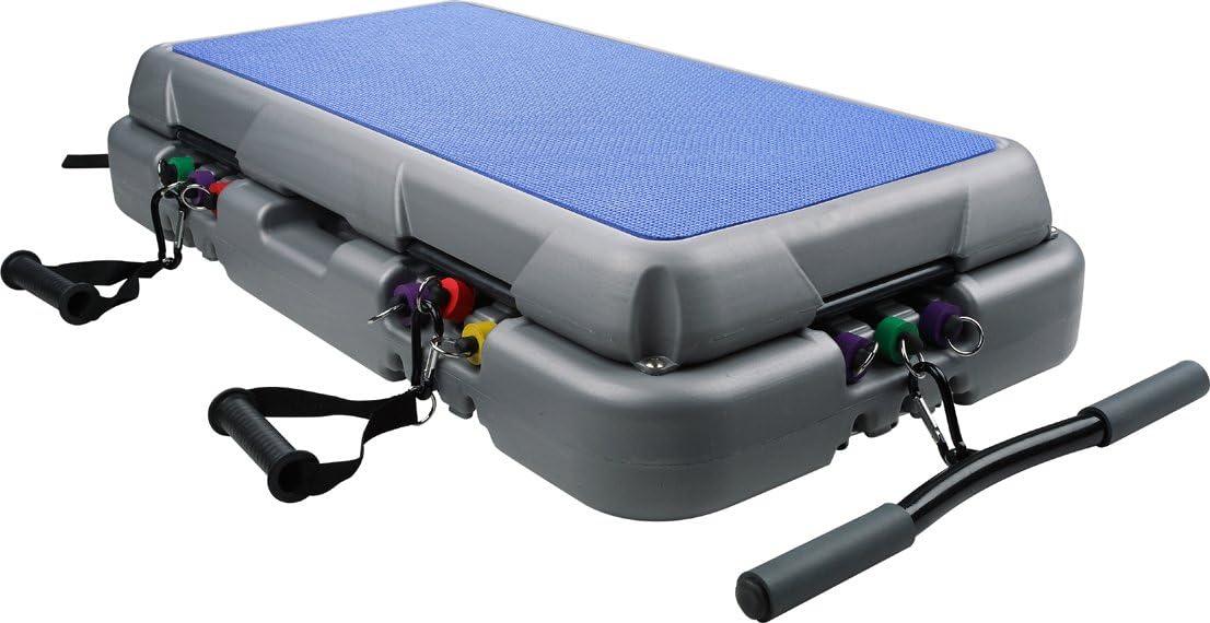 Rovera Smile Gym - Steps de Aerobic para Fitness, Color Azul, Gris