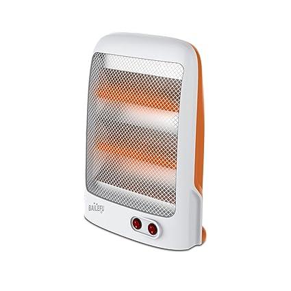 YIXINY Termoventiladores y calefactores cerámicos JSTY03 Vertical Tubo De Cuarzo Calefacción 800w Naranja + Blanco 26.5