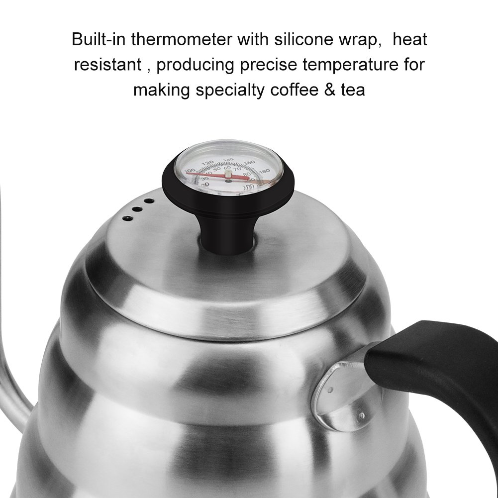 Coffee Kettle with Thermometer for Exact Temperature, 1.2Liter(41floz), Gooseneck Drip Kettle for Coffee, Tea, Home Brewing, Camping and Traveling by ECPURCHASE by ECPURCHASE (Image #3)