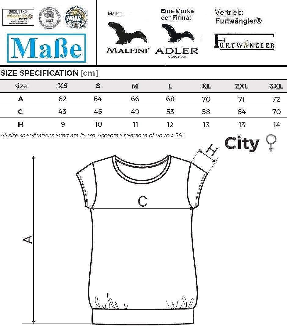 T-Shirt Shirt für Damen 100% Baumwolle Türkisblau