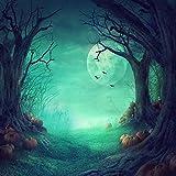 Duluda Halloween Night Pumpkin Moon 8X8FT Seamless Vinyl Photography Backdrop Customized Photo Background Studio Prop HW02C