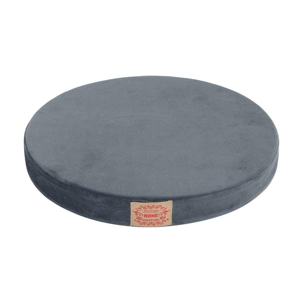 Shinnwa Chair Pad,Round Memory Foam Seat Cushion Lumbar Support Pillow for Chair Black 16