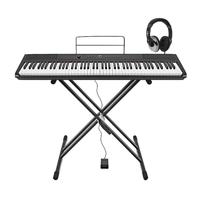 27 opinioni per SDP-2 Pianoforte da Stage da Gear4music + Stand Pedale e Cuffie