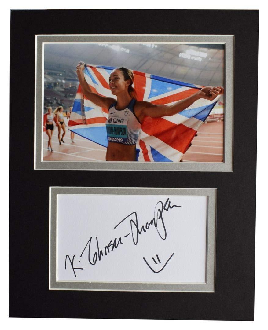Sportagraphs LTD Katarina Johnson-Thompson Signed Autograph 10x8 photo display Athletics COA
