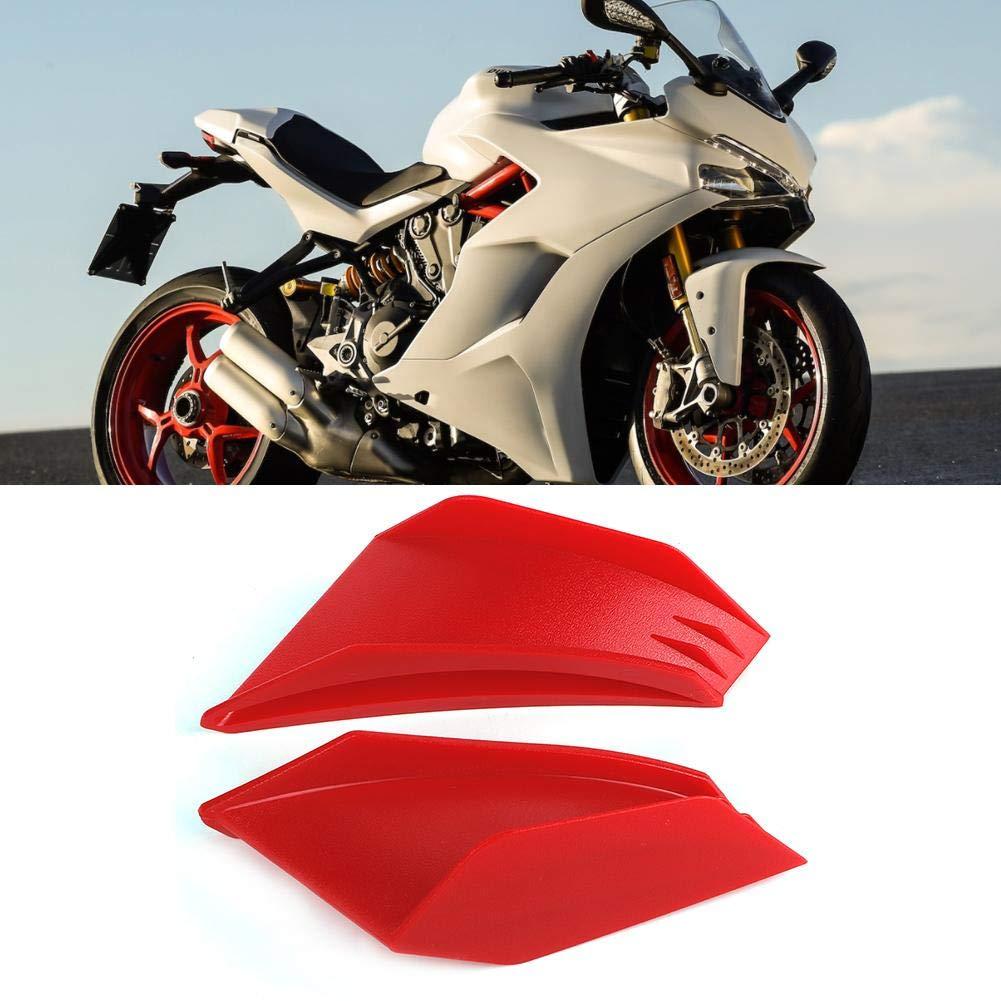 Fydun Motorcycle Winglet Fairing Winglet Aerodynamic Wing 1 Pair Kit Black//Red Black Fit for Honda for Yamaha for Ducati for Kawasaki Optional Motorcycle Winglet