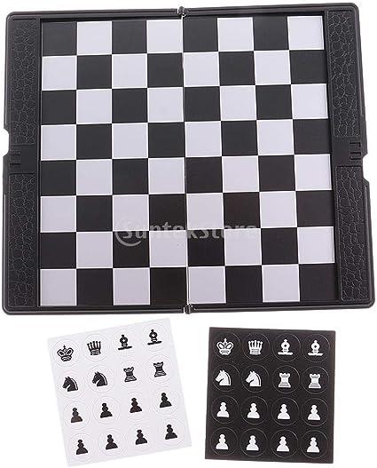 LiuQ Juego de Mesa Plegable Mini ajedrez magnético portátil de Bolsillo de la Carpeta de Ajedrez Juegos de Mesa Portátil: Amazon.es: Juguetes y juegos