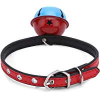 Dog Collar/Belt/Leash for Small Medium Large Dogs - PU Leather - Puppy/Cat Collar - RED