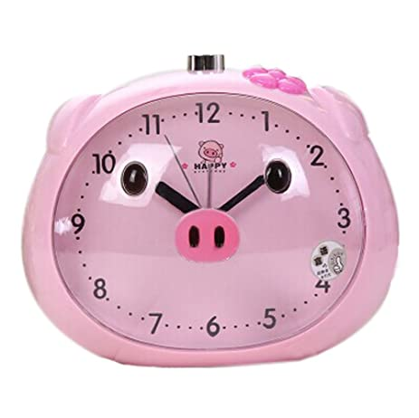 Amazon.com: Cute Pig-Shaped Alarm Clock For Kids With Night-Light ...
