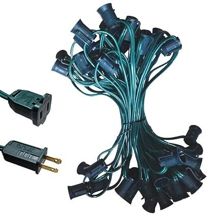 c9 light strand spt 2 50ft green wire c9 christmas light stringer