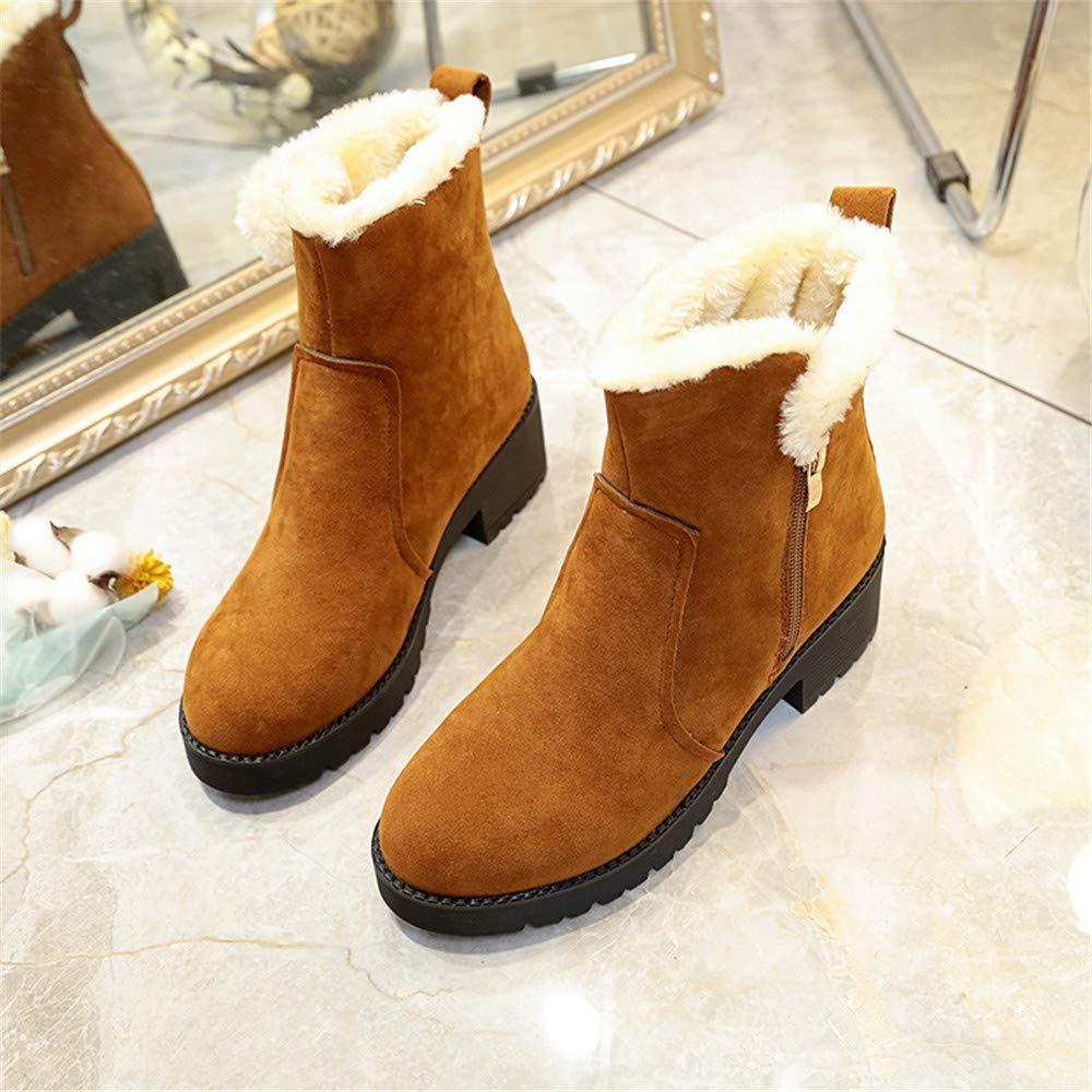 Eeayyygch High Heels Thick mit Martin Stiefeln Baumwollstiefeln warm und und und bequem lässig wild (Farbe   39, Größe   Gelb) dafab1