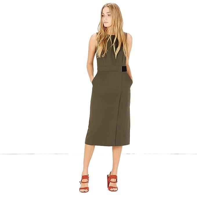 ASOS - Vestido - Sin mangas - para mujer Verde caqui 36 38 40 42 44