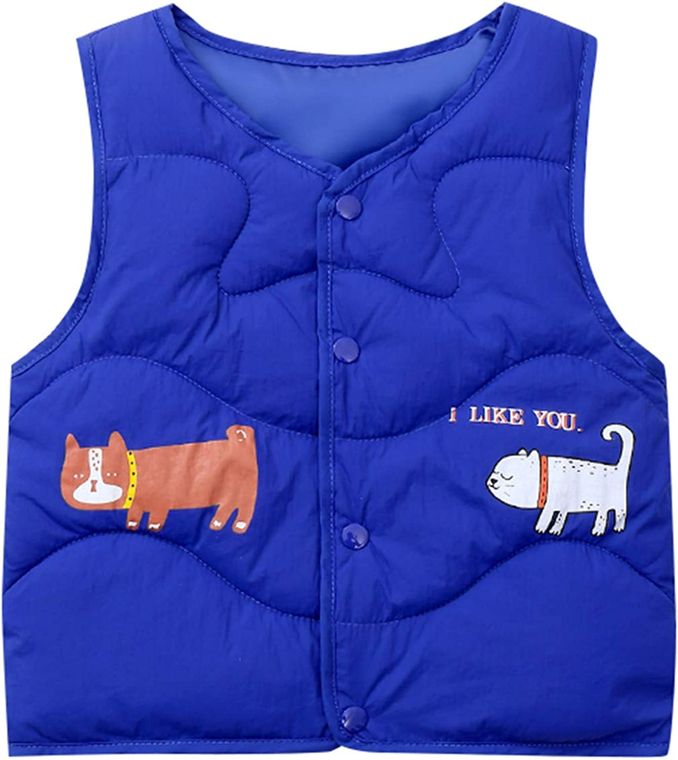 OrganicBoom 100/% Certified Organic Cotton Baby Quilted Jacquard Sleeveless Jacket Soft Vest