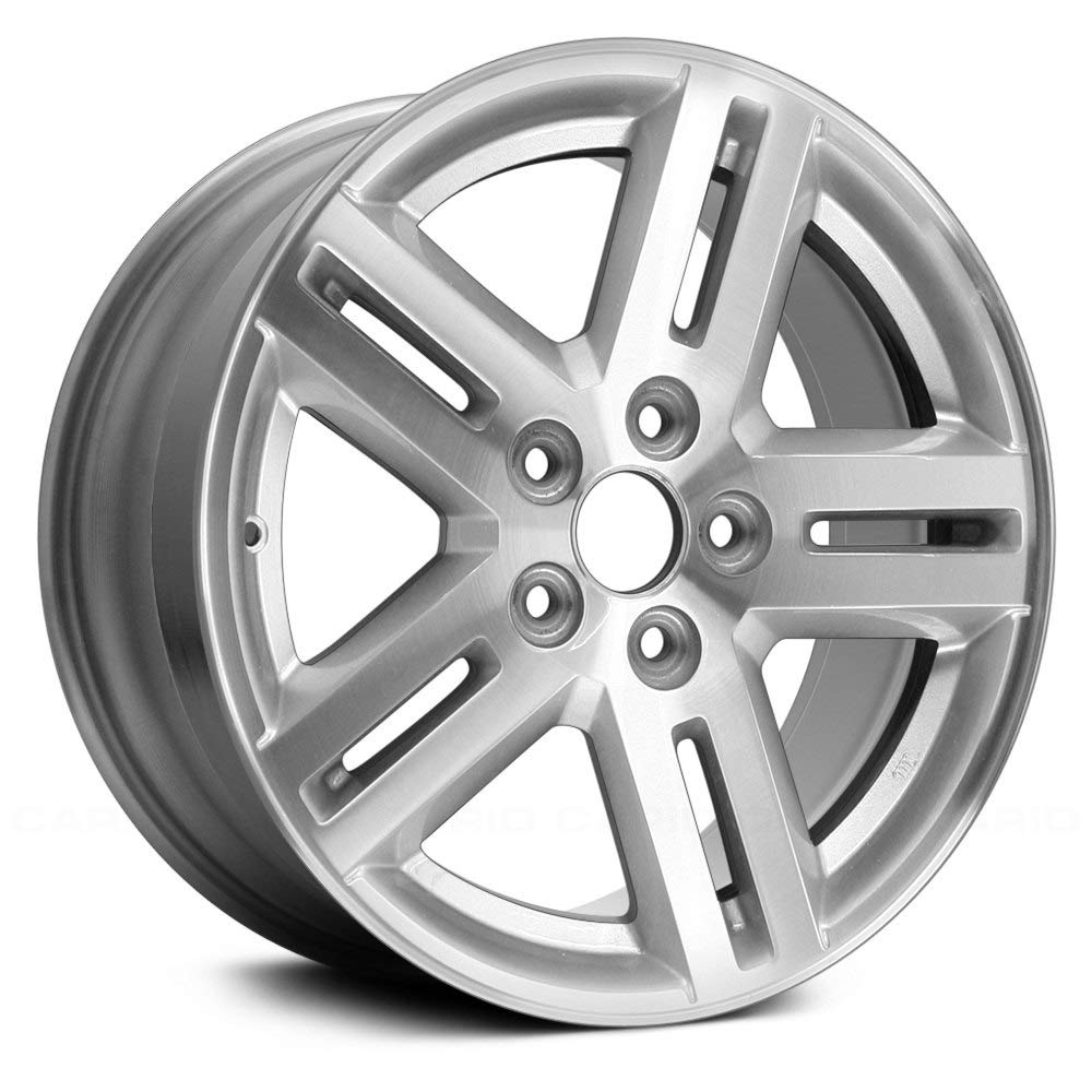 Replacement 17X6.5 Alloy Wheel Machined and Silver 5 Double Spoke Fits Dodge Avenger