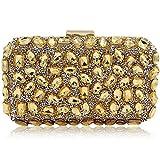 Women Rhinestone Evening Bags For Party Clutch Purse Handbag (Gold)