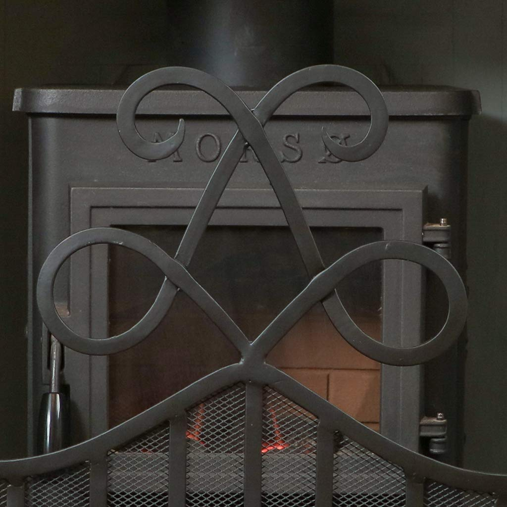 Matte Black Copper Finish Fireside Coal Scuttle Bucket with Shovel