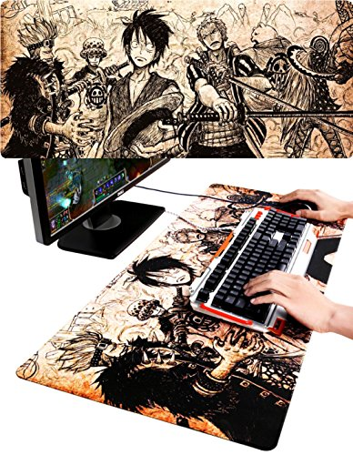 SPJ: One Piece Mouse Pad for Gaming Extra Large Keyboard Mat (35.4 X 15.7 X - Guy Nerd Outfit