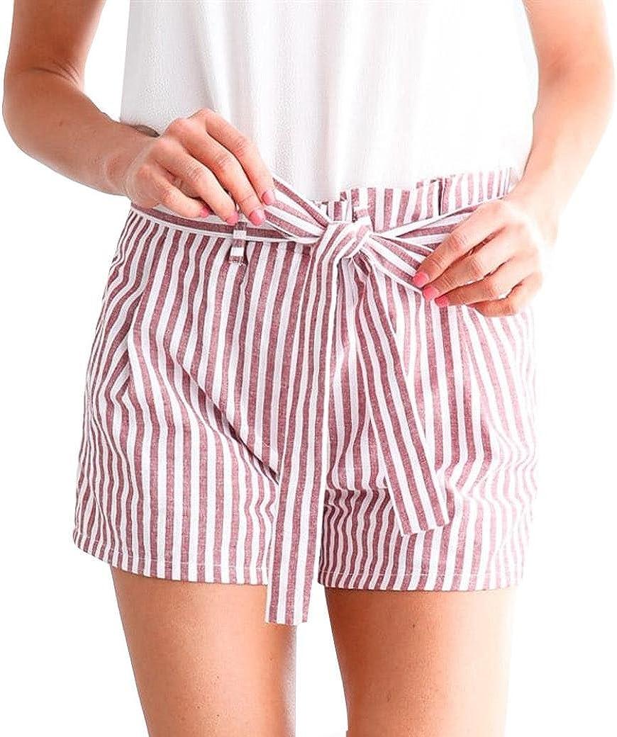 Memela Leggings Pants Women Stripe Casua Loose Hot Pants Lady Summer Beach Shorts Trousers