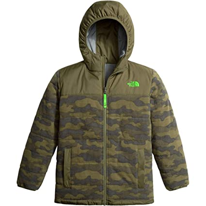 b55ce565c0ab The North Face Boys Reversible True Or False Jacket - Burnt Olive Green  Classic Camo Print
