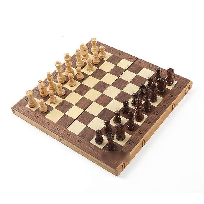 Xcfypiao Juego de ajedrez,Juego de Madera de 39 cm Tablero ...